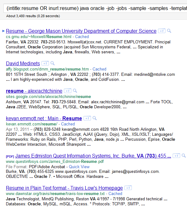 Sample Job Resumes Examples: How To Find Resumes On The Internet With Google