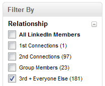 LinkedIn_Filter_By_Relationship