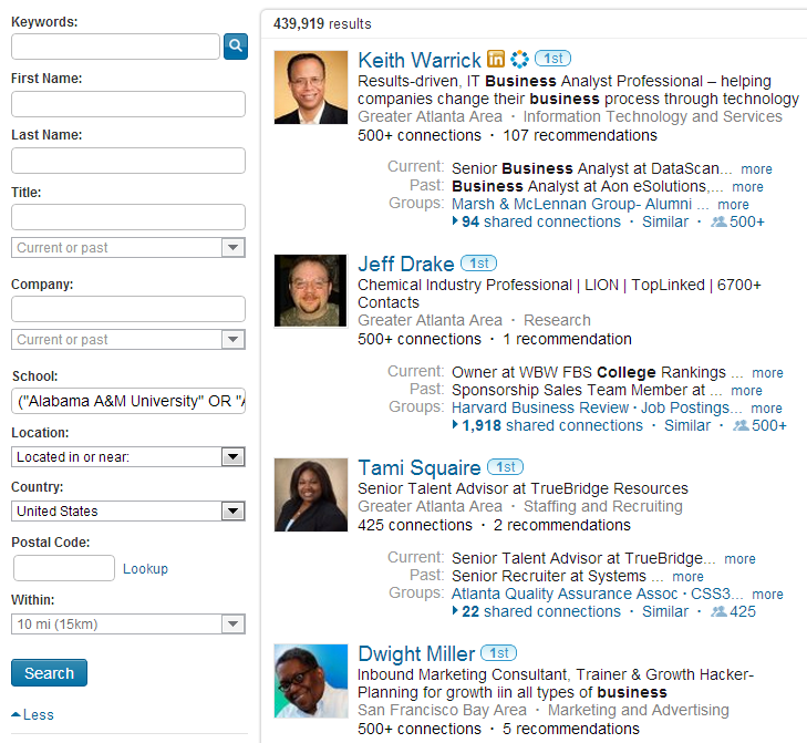 diversity sourcing  boolean search strings for linkedin