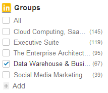 LinkedIn Groups Premium Filter