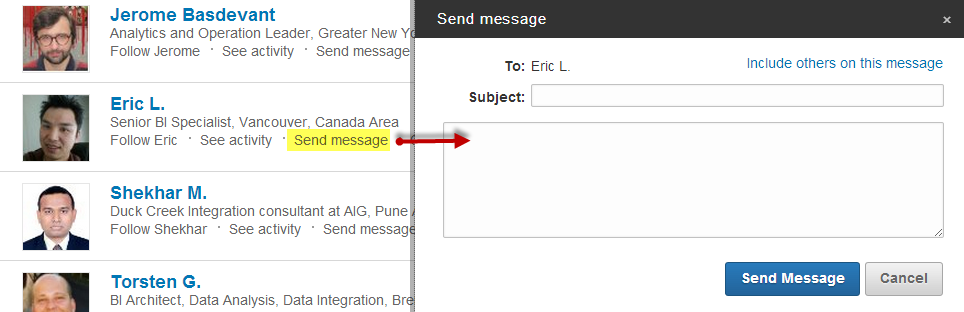 Free messaging to fellow LinkedIn Group members