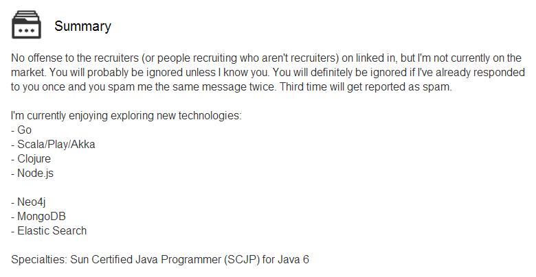 LinkedIn InMail Spam