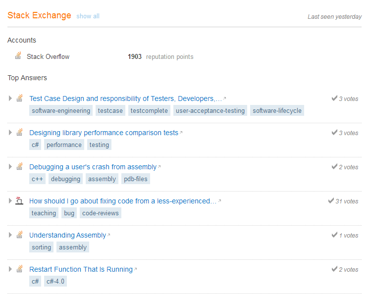 Stack Overflow Reputation and Top Answers Careers Site